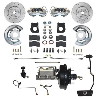DBC-A133-A-DS - Scott Drake Power Disc Brake Conversion Kit - Drilled/Slotted Rotors Auto Trans. Image