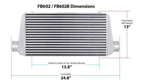 FB602B - Frostbite Air to Air Intercooler - additional Image