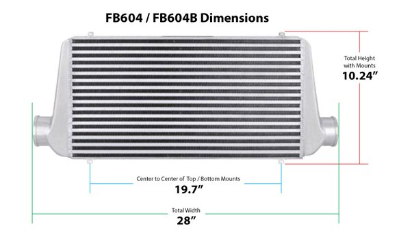 FB604B - Frostbite Air to Air Intercooler - additional Image
