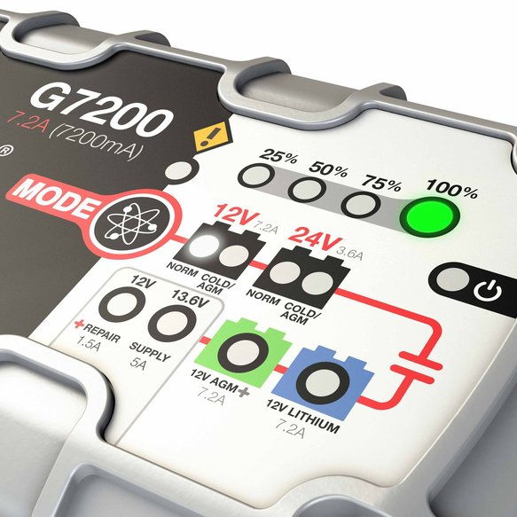G7200 - 7.2A Smart Battery Charger - additional Image