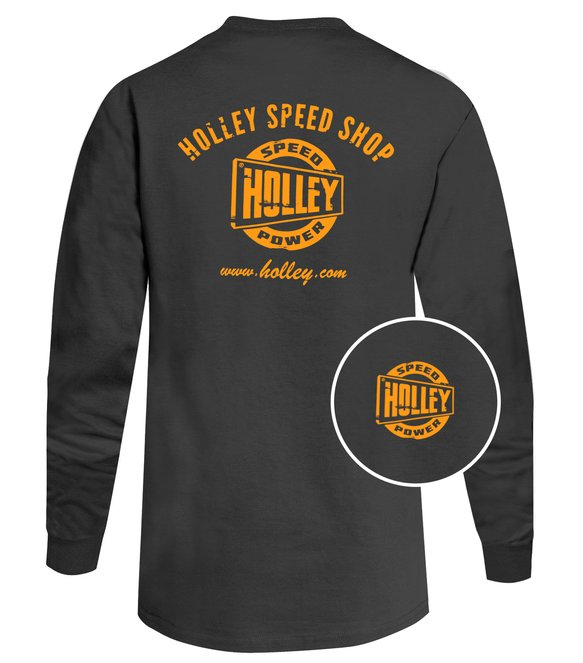 10048-XXXLHOL - Gray Holley Speed Shop Long Sleeve Tee Image