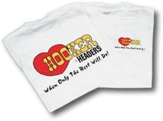 10132HKR - White Hooker Headers T-Shirt (Small) Image
