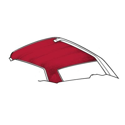 HL-FM-CP-65-DR - Scott Drake 65-70 Coupe Headliner (Dark Red) Image