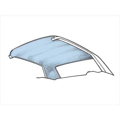 HL-FM-CP-65-LB - Scott Drake 65-70 Coupe Headliner (Light Blue) Image