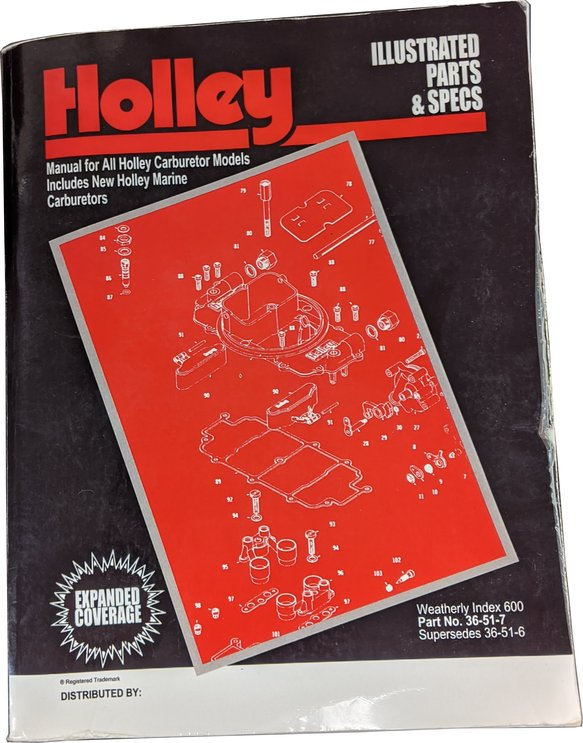 36-51-7 - Holley Illustrated Parts & Specs Guide Image