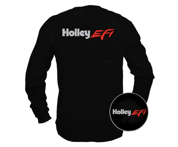 10045-MDHOL - Tee - New Holley EFI Long Sleeve - Black Image