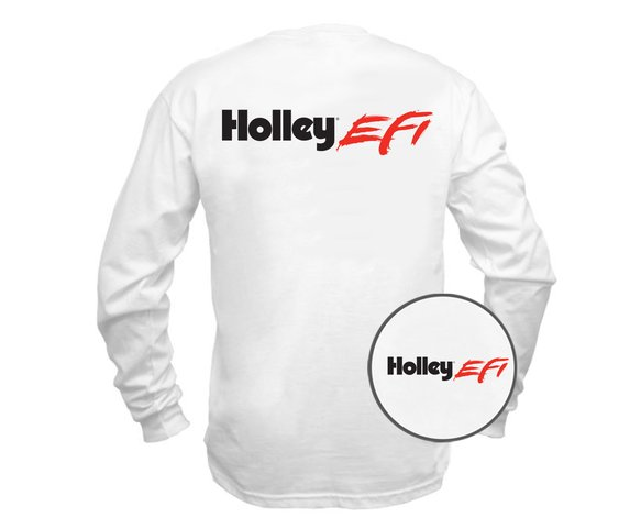 10043-LGHOL - Tee - New Holley EFI Long Sleeve - White Image