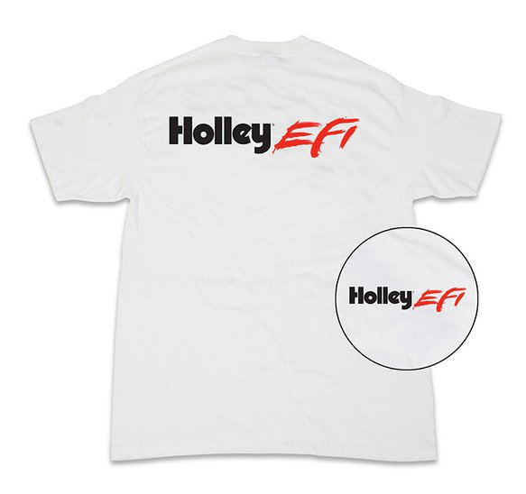 10042-LGHOL - Tee - New Holley EFI Short Sleeve - White Image