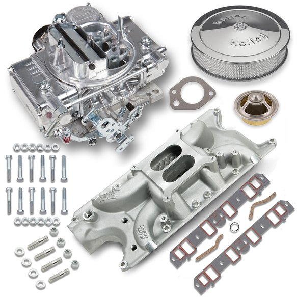 VK060000 - 600 CFM Street Warrior Carburetor and Small Block Ford Intake Manifold Combo Image