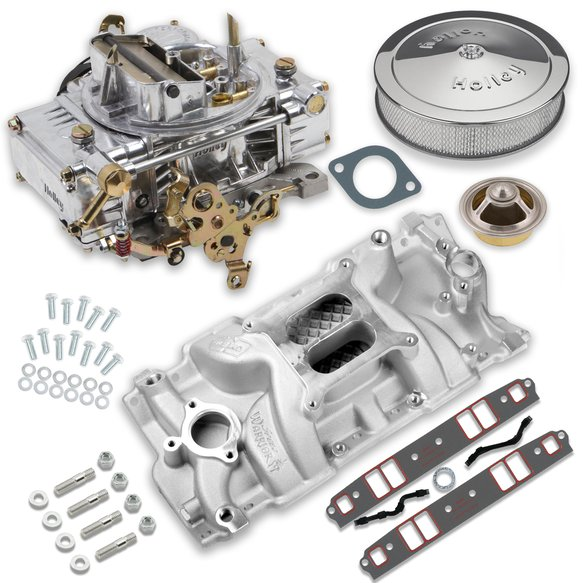VK060053 - 750 CFM 0-80508SA Carburetor and Small Block Chevy Intake Manifold Combo Image