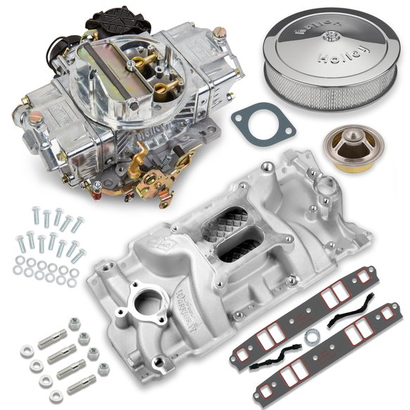 VK060055 - 670 CFM Street Avenger Carburetor and Small Block Chevy Manifold Combo Image