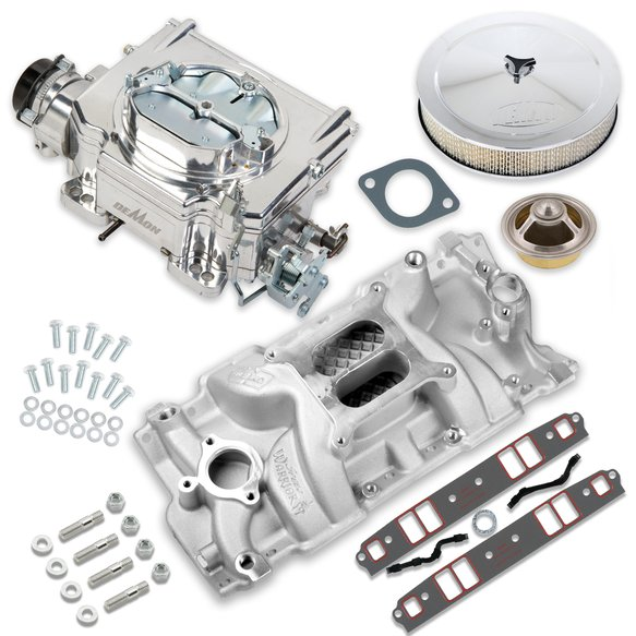 VK060059 - 750 CFM Street Demon Carburetor and Small Block Chevy Manifold Combo Image