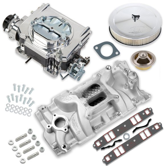 VK060014 - 625 CFM Street Demon Carburetor and Small Block Chevy Manifold Combo Image