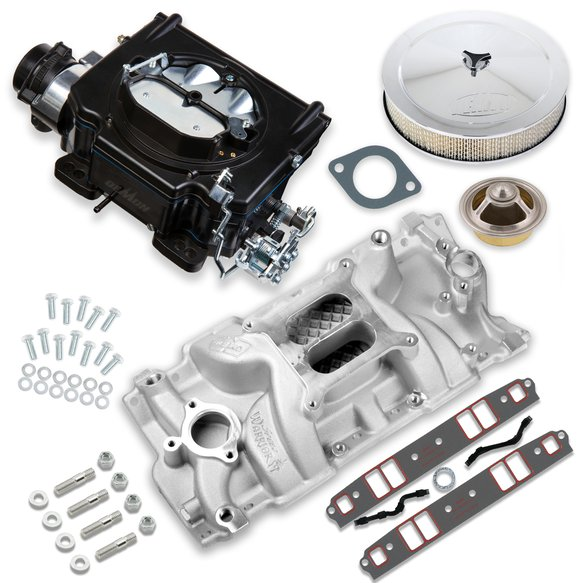 VK060015 - 625 CFM Street Demon Carburetor and Small Block Chevy Manifold Combo Image