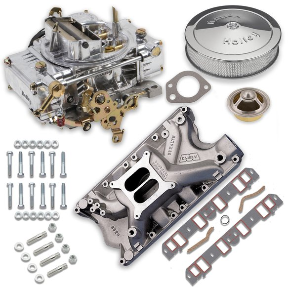 VK060017 - 600 CFM 0-80457SA Carburetor and Ford 351W Intake Manifold Combo Image