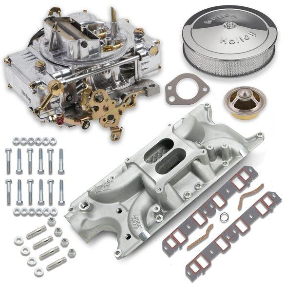VK060001 - 600 CFM 0-80457SA Carburetor and Small Block Ford Intake Manifold Combo Image