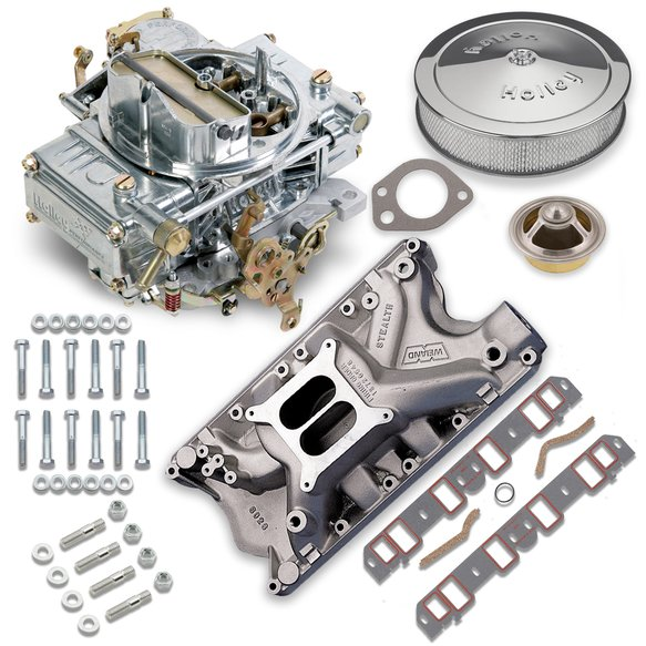 VK060019 - 600 CFM 0-1850SA Classic Holley Carburetor and Ford 351W Manifold Combo Image