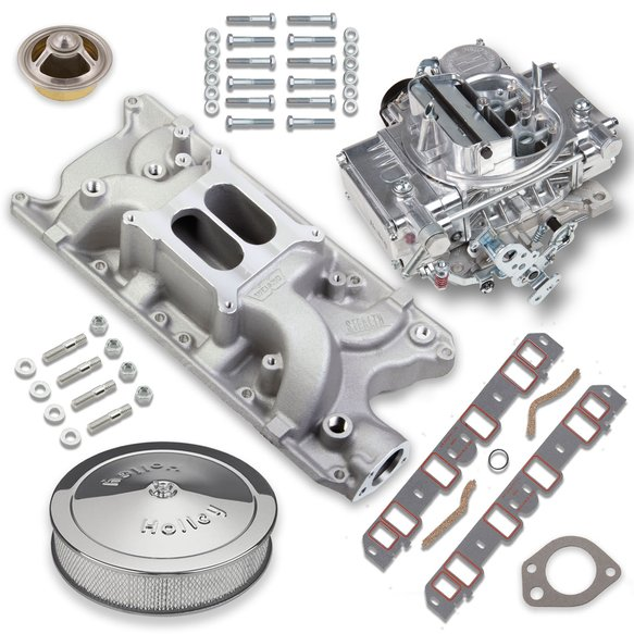 VK060024 - 600 CFM Street Warrior Carburetor and Small Block Ford Intake Manifold Combo Image