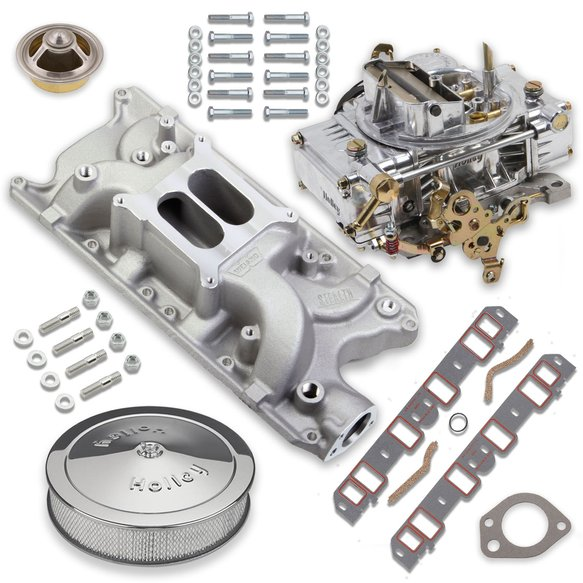 VK060077 - 750 CFM 0-80508S Carburetor and Small Block Ford Intake Manifold Combo Image