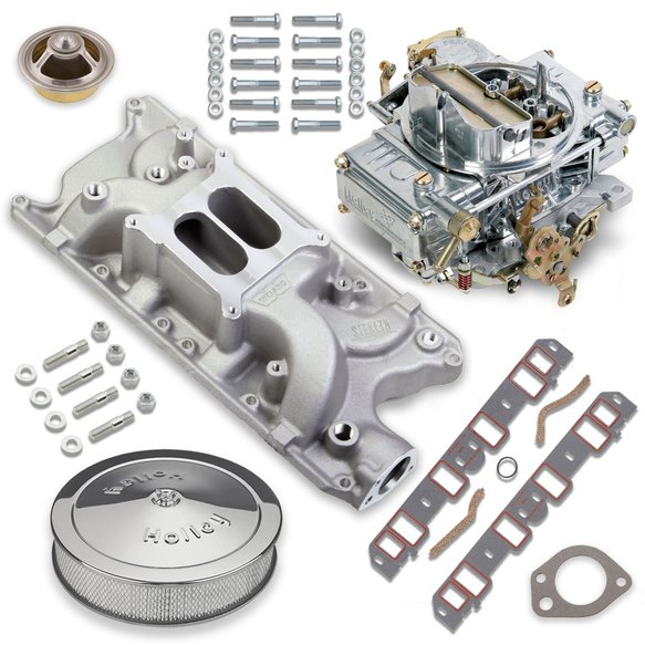 VK060028 - 600 CFM 0-1850S Classic Holley Carburetor and Small Block Ford Manifold Combo Image