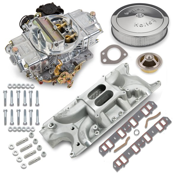VK060041 - 750 CFM 0-80508SA Carburetor and Small Block Ford Intake Manifold Combo Image