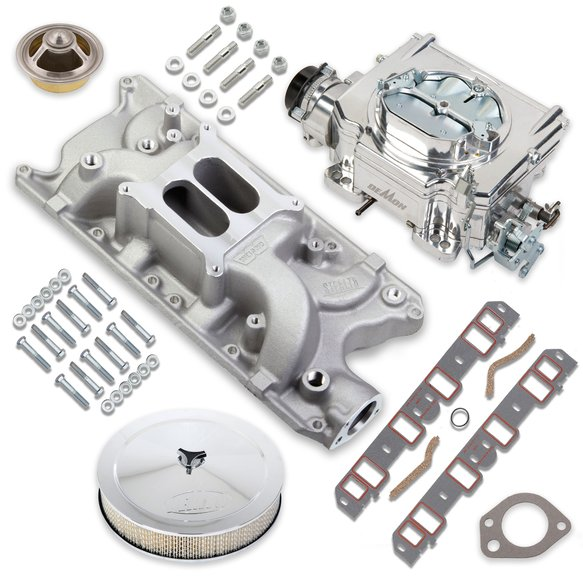 VK060083 - 750 CFM Street Demon Carburetor and Small Block Ford Manifold Combo Image