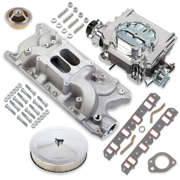 VK060084 - 750 CFM Street Demon Carburetor and Small Block Ford Manifold Combo Image