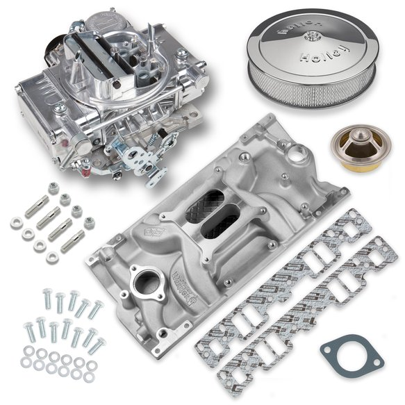 VK060032 - 600 CFM Street Warrior Carburetor and Small Block Chevy Vortec Intake Manifold Combo Image