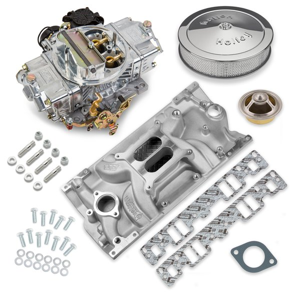 VK060094 - 570 CFM Street Avenger Carburetor and Small Block Chevy Vortec Manifold Combo Image