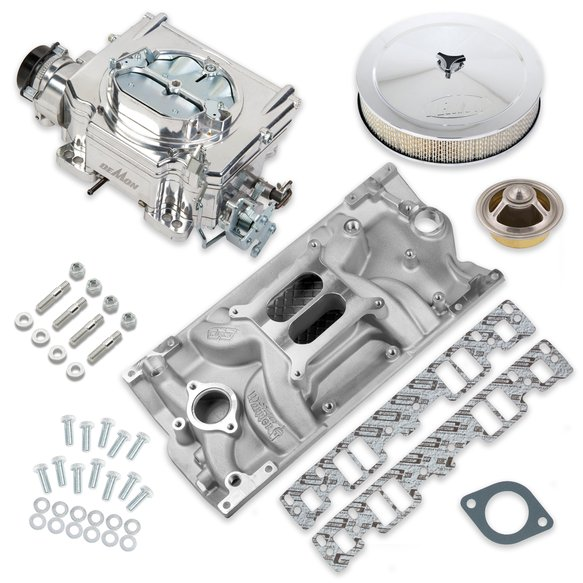 VK060037 - 625 CFM Street Demon Carburetor and Small Block Chevy Vortec Manifold Combo Image