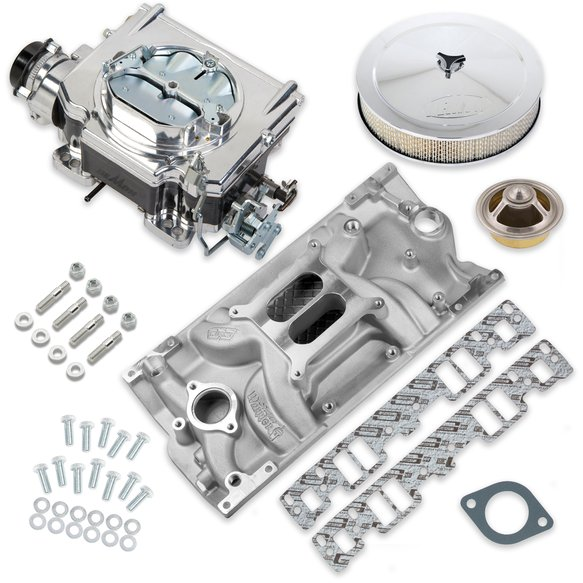 VK060096 - 750 CFM Street Demon Carburetor and Small Block Chevy Vortec Manifold Combo Image