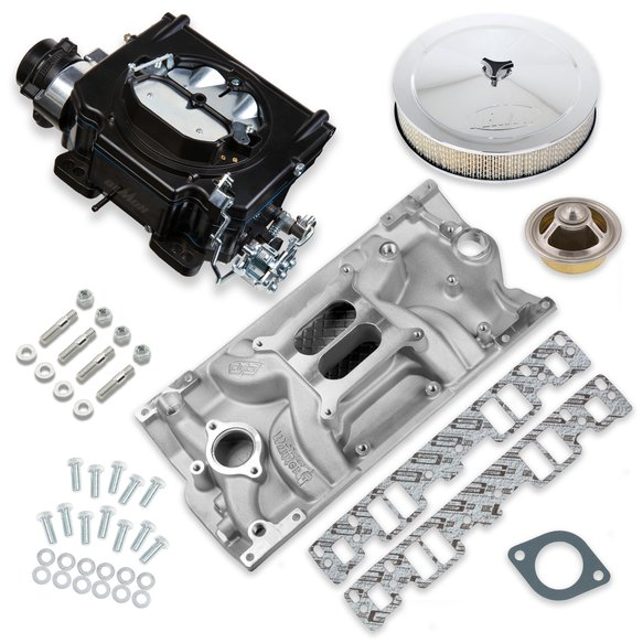 VK060097 - 750 CFM Street Demon Carburetor and Small Block Chevy Vortec Manifold Combo Image