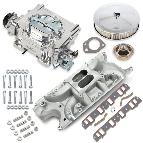 VK060047 - 750 CFM Street Demon Carburetor and Small Block Ford Manifold Combo Image