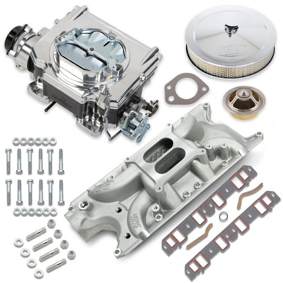 VK060048 - 750 CFM Street Demon Carburetor and Small Block Ford Manifold Combo Image