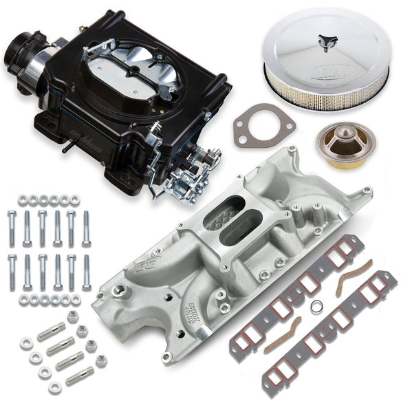 VK060049 - 750 CFM Street Demon Carburetor and Small Block Ford Manifold Combo Image