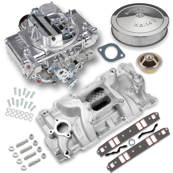 VK060008 - 600 CFM Street Warrior Carburetor and Small Block Chevy Intake Manifold Combo Image