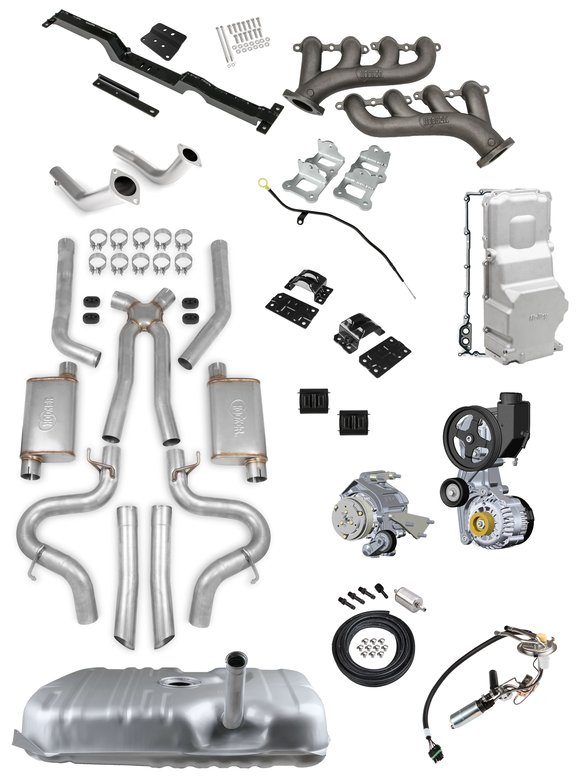 VK090058 - Level 5 LS Swap Kit -Cast Iron Manifolds and 2.5