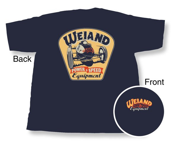 10002-LGWND - Navy Blue Weiand Retro T-Shirt (Large) Image