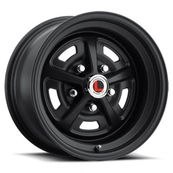 LW50-50754E - Legendary Wheels Magnum 500 - 15 x 7 in. -  5 x 4.5 - 4.25 BS - Stealth Black Image