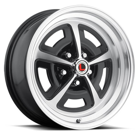 LW50-70754A - Legendary Wheels Magnum 500 - 17 x 7 in. - 5 x 4.5 - 4.25 BS - Gloss Black/Machined Image