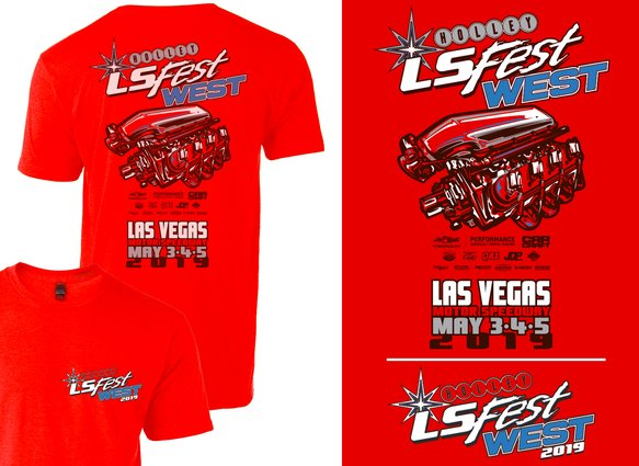10202-MDHOL - 2019 Youth LS West Main Event Engine Tee - Red Image