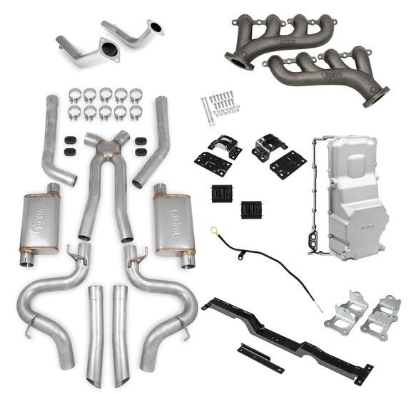 VK090020 - Level 3 LS Swap Kit -Cast Iron Manifolds and 2.5
