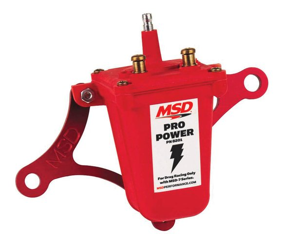 8201 - MSD Ignition Coil Pro Power Series, Red, Individual Image