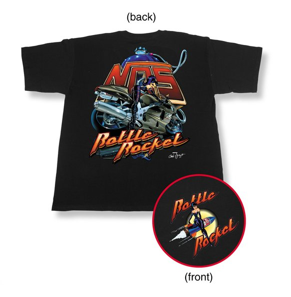 19070-LGNOS - Black NOS Bottle Rocket Bike T-Shirt (Large) Image