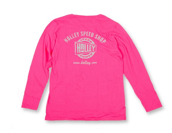 10105-LGHOL - Pink Holley Speed Shop Long Sleeve Tee Image