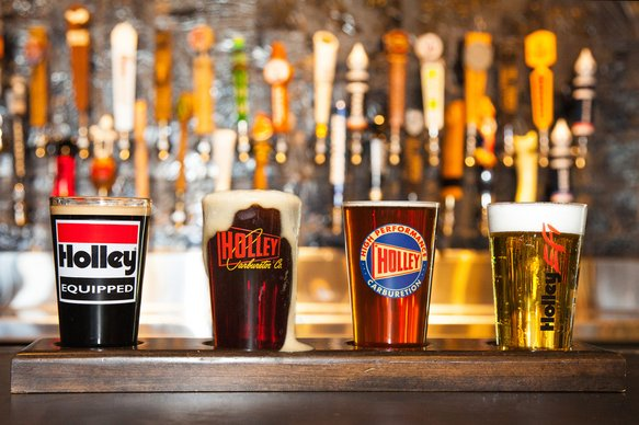 36-435 - HOLLEY 16OZ. LOGO PUB GLASS ASSORTMENT - 4 PACK (SERIES 1) Image