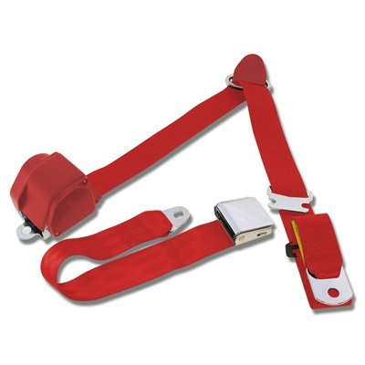 SB-3P-BR - Scott Drake 1964.5-73 Mustang 3-Point Seat Belt-Bright Red Image