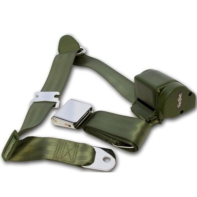 SB-3P-GN - Scott Drake 1964.5-73 Mustang 3-Point Seat Belt-Green Image