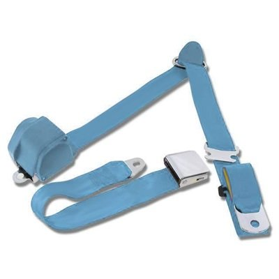 SB-3P-LB - Scott Drake 1964.5-73 Mustang 3-Point Seat Belt-Light Blue Image