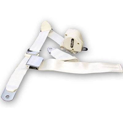 SB-3P-WT - Scott Drake 1964.5-73 Mustang 3-Point Seat Belt-White Image